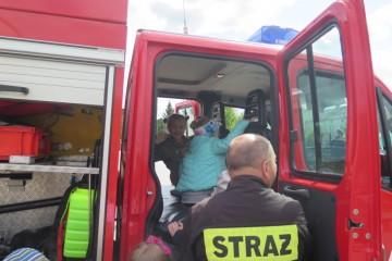 Misie z wizytą w Państwowej Straży Pożarnej.