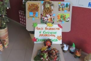 Prace nagrodzone w wewnątrzprzedszkolnym  konkursie plastycznym pt.,,Jesienna sztuka\'