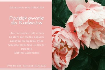 Pożegnanie grupy Zerówkowej Kropeczki  2019/2020