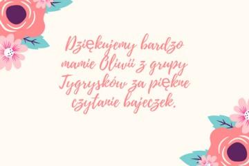 Rodzice czytają Dzieciom - mama Oliwii Ł.