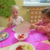 Robiliśmy sałatkę owocową.