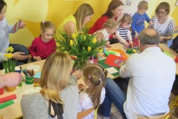 Kartka Wielkanocna w gr. Kwiatuszków