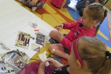 Przygotowanie prac plastycznych do konkursu oraz wykonanie prac plastycznych metodą kolażu.